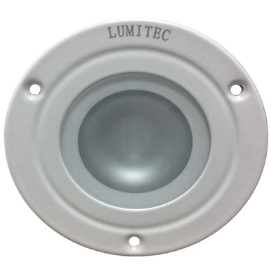 Lumitec Shadow - Flush Mount Down Light - White Finish - 4-Color White-Red-Blue-Purple Non Dimming [114120] - Dome/Down Lights Brand_Lumitec