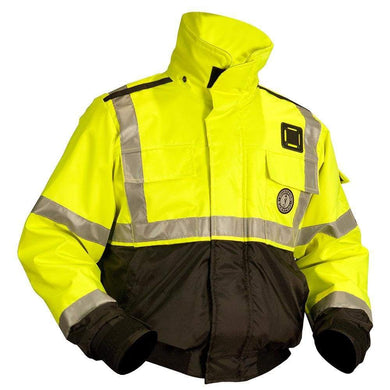 Mustang ANSI Hi-Vis Classic Bomber Flotation Jacket - X-Large [MJ6214T3-XL-239] - Flotation Coats/Pants Brand_Mustang Survival