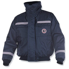 Mustang Classic Bomber Jacket w-SOLAS Reflective Tape - Large - Navy [MJ6214T1-L-NV]