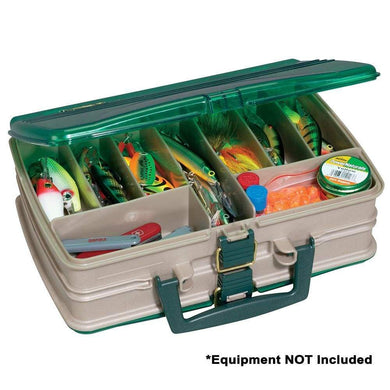 Plano Double-Sided 20-Compartment Satchel - Sandstone-Green [112000] - Fishing Accessories Brand_Plano fishing fishing-accessories outdoor