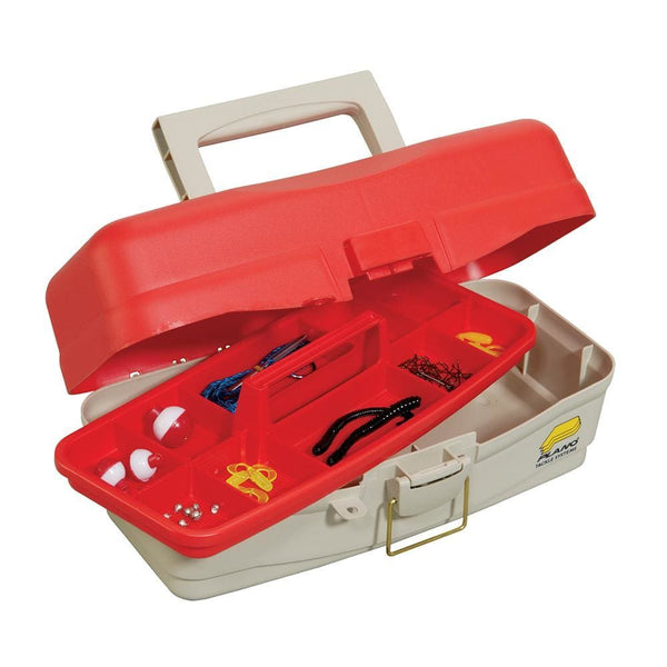 Plano Take Me Fishing Tackle Kit Box - Red-Beige [500000] - Tackle Storage Brand_Plano outdoor Outdoor | Tackle Storage plano tackle-storage