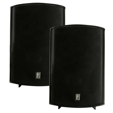 Poly-Planar Compact Box Speaker - 7-11-16 x 5-1-8 x 4-11-16 - (Pair) Black [MA7500B] - Speakers Brand_Poly-Planar entertainment