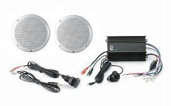 Polyplanar MP3-KIT-4 White Amp And MA4055 Speakers - Audio/Video audio-video polyplanar Stereo - Packages Polyplanar 731128940816