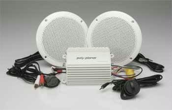 Polyplanar MP3-KIT-A MP3 Amp And Speaker Kit - Audio/Video audio-video polyplanar Stereo - Packages Polyplanar 731128823607