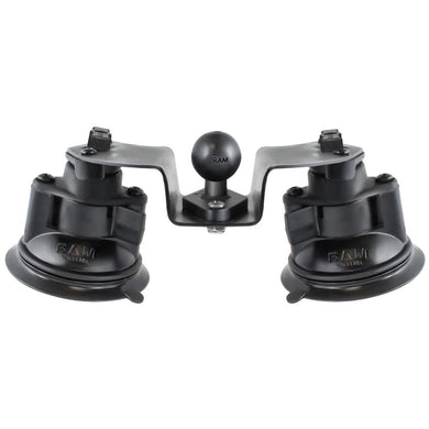 RAM Mount Dual Articulating Suction Cup Base w-1 Ball Base [RAM-B-189B-PIV1U] - Suction Cup Mounts Brand_RAM Mounting Systems Ram Mount