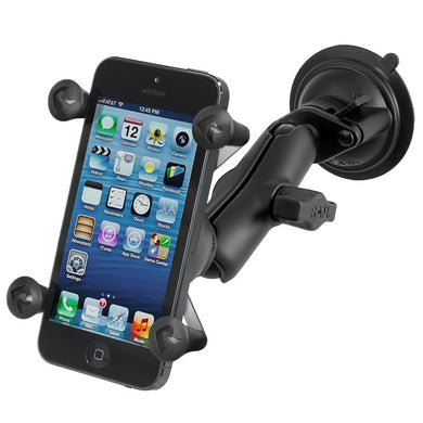 RAM Mount Twist Lock Suction Cup Mount w-Universal X-Grip Cell Phone Holder [RAM-B-166-UN7U] - Suction Cup Mounts Brand_RAM Mounting Systems