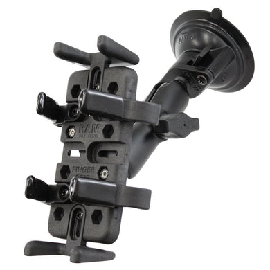 RAM Mount Universal Finger Grip Holder Suction Cup Mount [RAM-B-166-UN4U] - Suction Cup Mounts Brand_RAM Mounting Systems Ram Mount Store |