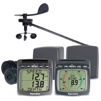 Raymarine Wireless Speed Depth Wind NMEA System [T104-916] - Instruments - Depth/Temp Brand_Raymarine instruments-depth-temp Marine