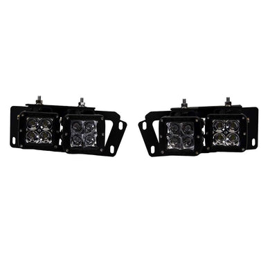 RIGID Industries 2010-2017 Dodge Ram 2500-3500 2009-12 Dodge Ram 1500 Fog Light Mount Kit [46510] - Accessories Brand_RIGID Industries