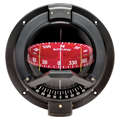 Ritchie BN-202 Navigator Compass - Bulkhead Mount - Black [BN-202] - Compasses - Magnetic Brand_Ritchie compasses-magnetic Marine