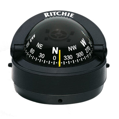 Ritchie S-53 Explorer Compass - Surface Mount - Black [S-53] - Compasses - Magnetic Brand_Ritchie compasses-magnetic Marine Instruments |