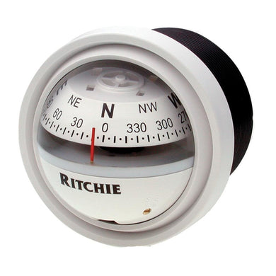 Ritchie V-57W.2 Explorer Compass - Dash Mount - White [V-57W.2] - Compasses - Magnetic Brand_Ritchie compasses-magnetic Marine Instruments |