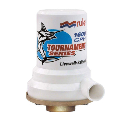 Rule Tournament Series Bronze Base 1600 GPH Livewell Pump [209B] - Livewell Pumps Brand_Rule livewell-pumps Marine Plumbing & Ventilation |