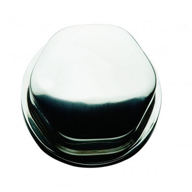 Schmitt Faux Center Nut - Stainless Steel - 1-23-4 Base Included - For Cast Steering Wheels [CAP0303] - Steering Wheels Brand_Schmitt &