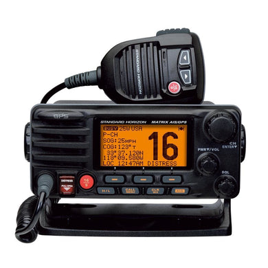 Standard Horizon Matrix Fixed Mount VHF w-AIS & GPS - Class D DSC - 30W - Black [GX2200B] - VHF - Fixed Mount Brand_Standard Horizon