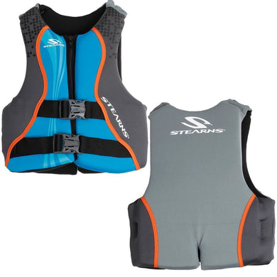 Stearns Youth Hydroprene Vest Life Jacket - 50-90lbs - Blue [2000019831] - Life Vests Brand_Stearns life-vests Marine Safety | Personal