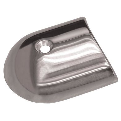 TACO Polished Stainless Steel 2-19-64 Rub Rail End Cap [F16-0091] - Rub Rail Brand_TACO Marine Marine Hardware | Rub Rail marine-hardware