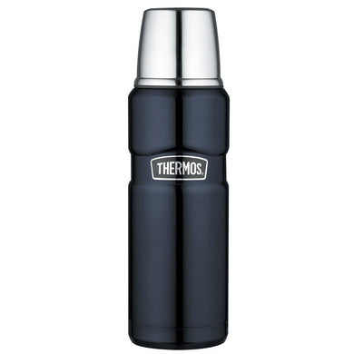 Thermos Stainless King Vacuum Insulated Beverage Bottle - 16 oz. - Stainless Steel-Midnight Blue [SK2000MBTRI4] - Hydration Brand_Thermos