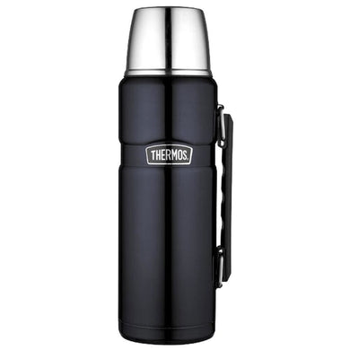 Thermos Stainless King Vacuum Insulated Beverage Bottle - 40 oz. - Stainless Steel-Midnight Blue [SK2010MBTRI4] - Hydration Brand_Thermos