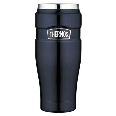 Thermos Stainless King Vacuum Insulated Travel Tumbler - 16 oz. - Stainless Steel-Midnight Blue [SK1005MBTRI4] - Hydration Brand_Thermos