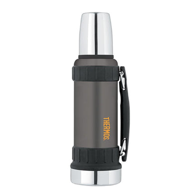 Thermos Work Series Vacuum Insulated Beverage Bottle - 40 oz. - Gunmetal Gray [2520GMTRI2] - Hydration Brand_Thermos camping Camping |