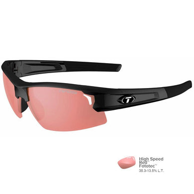 Tifosi Synapse Gloss Black Sunglasses - High Speed Red [1420300230] - Sunglasses Brand_Tifosi Optics outdoor Outdoor | Sunglasses