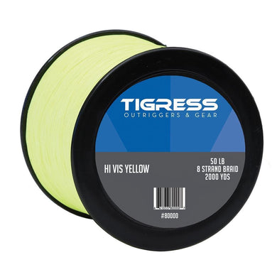 Tigress High- Visibility 50lb Kite Braid - Yellow [80000] - Fishing Accessories Brand_Tigress fishing fishing-accessories outdoor Outdoor |