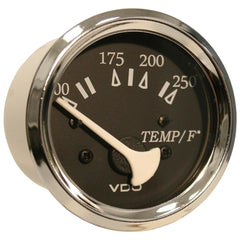 VDO Allentare Black 250 DegreeF Water Temperature Gauge - Use w-Marine 450-29 Ohm Sender - 12V - Chrome Bezel [310-11273]