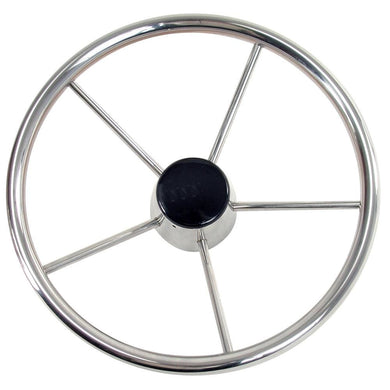 Whitecap Destroyer Steering Wheel - 13-1-2 Diameter [S-9001B] - Steering Wheels Brand_Whitecap Marine Hardware | Steering Wheels