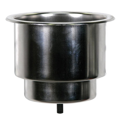 Whitecap Flush Cupholder w-Drain - 302 Stainless Steel [S-3511C] - Deck / Galley Boat Outfitting | Deck / Galley Brand_Whitecap deck-galley