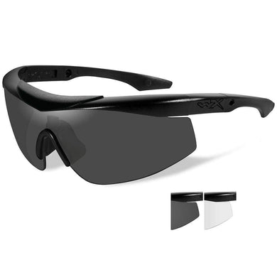Wiley X Talon Sunglasses - Smoke Grey-Clear Lens - Matte Black Frame [CHTLN1] - Sunglasses Brand_Wiley X outdoor Outdoor | Sunglasses