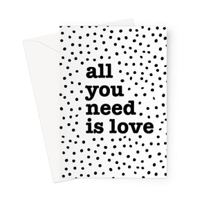 All you need is dotty love Greeting Card (Free Shipping)