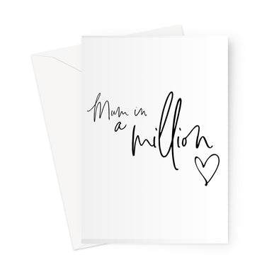 Mum in a Million Greeting Card (Free Shipping)