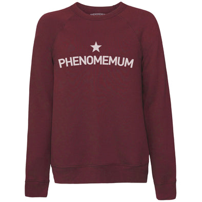 Ultra Cosy Phenomemum Dark Red Sweatshirt