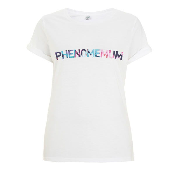 Phenomemum - Roll Sleeved White Tee