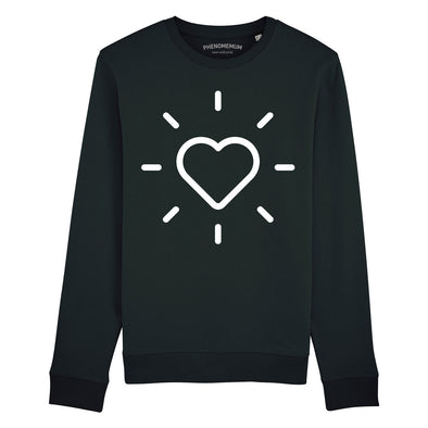 Loveheart - Black Boyfriend Fit Sweatshirt