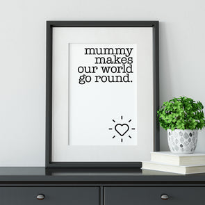 Mummy makes our world go round.