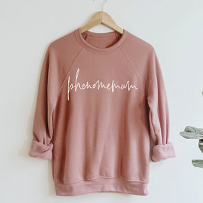 Ultra Cosy Phenomemum Script Rose Sweatshirt