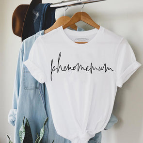 Phenomemum Script - Roll Sleeved Tee
