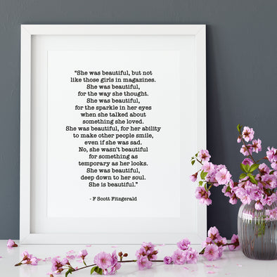 She was Beautiful - Framed Print