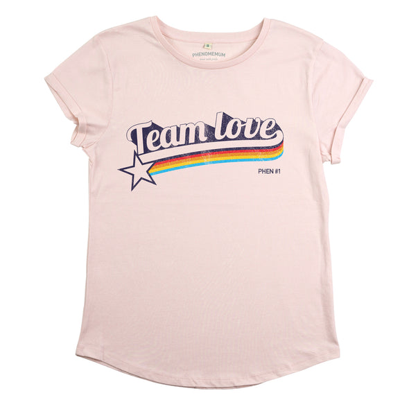 Team Love - Roll Sleeved Tee