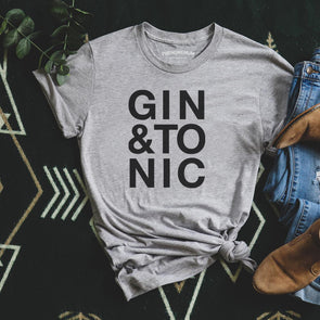 Gin and Tonic - Roll Sleeved Tee