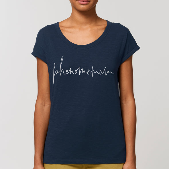 Phenomemum Script - Relaxed fitRoll Sleeved Slub Tee
