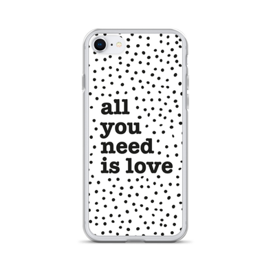 All you need is Dotty Love - iPhone Case
