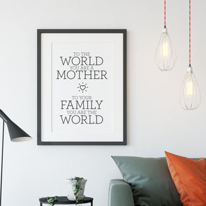 The World - Framed Print