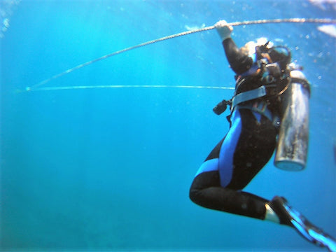Scuba Diver Clearing Blocked Ears