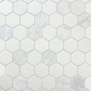 Stone Art, White Hex