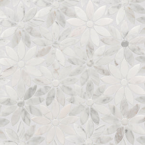 Stone Art, White Daisy