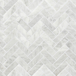 Stone Art, White Herringbone