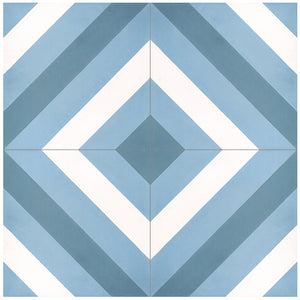 Geo Cement, Stripe Blue